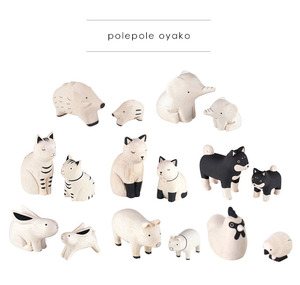 Wooden Cute Animal Oyako 2pack (polepole oyako) - 木製可愛小動物 親子雙入組合