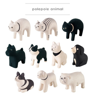 Wooden Cute Animal (polepole animal) Part 2 - single - 木製可愛小動物 單款 Part 2