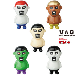 Vinyl Artist Gacha series 10 - Pocyaitsu by Punk Drunkers - set of 5pcs - VAG 藝術家軟膠扭蛋 第十彈 - Q版刺客 - 一套五款