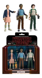 Stranger Things Action Figure 3PK Pack 1 - Eleven, Lucas, Mike - 怪奇物語 可動人偶三人組合包 1號組合 - 11號, 路卡斯, 麥克