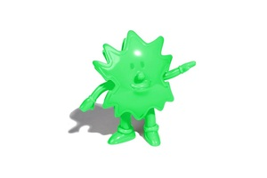 Devilock Palm Boy Sofubi (Soft Vinyl Figure) - Green - Palm Boy 2017版軟膠人偶 - 螢光綠