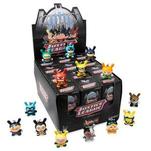 "DC Justice League 1.5"" Dunny Keychain Series - display case of 24pcs - DC正義聯盟 1.5"" Dunny鑰匙圈 盒玩系列 - 中盒內含24抽"