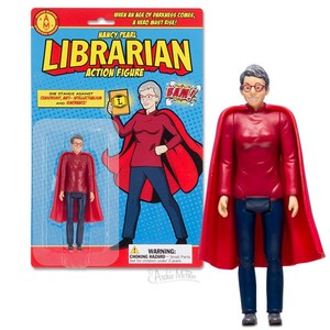 Archie McPhee Librarian Action Figure Nancy Pearl - 可動人偶吊卡系列 - 圖書館員 珍珠南西