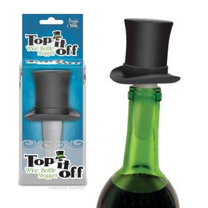Archie McPhee Top it off Wine Bottle Stopper - 高帽子瓶塞