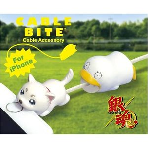 Cable Bite Cable Accessory for iPhone - Gintama - Sadaharu / Elizabeth - iPhone充電線用 咬線裝飾保護套 - 銀魂 - 定春 / 伊莉莎白
