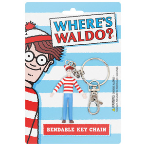 Where's Wally (Waldo)? Bendable Key Chain - Wally (Waldo) - 尋找威利 鐵絲關節人偶鑰匙圈 - 威利