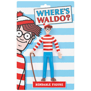 Where's Wally (Waldo)? Bendable Figure - Wally (Waldo) - 尋找威利 鐵絲關節人偶 - 威利