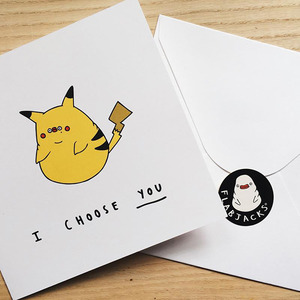 Flabjacks Greeting Card - I Choose You - 賀卡 我決定是你了