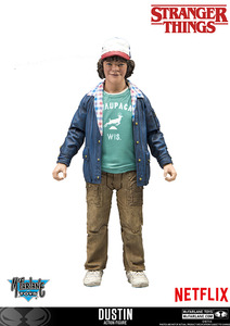 "Stranger Things 7"" action figure - Dustin - 怪奇物語 7""可動人偶 - 達斯汀"
