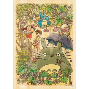 Ghibli Totoro Wooden Jigsaw Puzzle - Picking up Fruits - 宮崎駿 龍貓 木製拼圖 - 採果樂