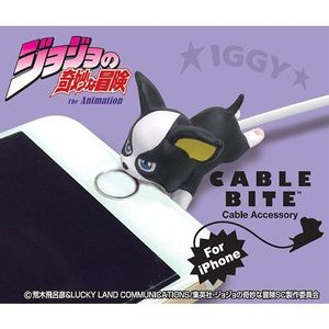 Cable Bite Cable Accessory for iPhone - JoJo - Iggy - iPhone充電線用 咬線裝飾保護套 - JoJo冒險野郎 - 伊奇
