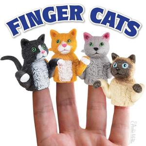 Archie McPhee Finger Cats - assortment - 玩偶指套 貓咪 - 隨機單抽