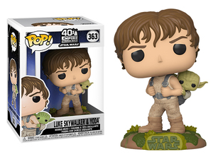 Star Wars POP! vinyl bobble-head - Luke Skywalker & Yoda  (The Empire Strikes Back 40th Anniversary)  - 星際大戰 POP!搖頭娃 - 路克 與 尤達 (帝國大反擊 40周年紀念)