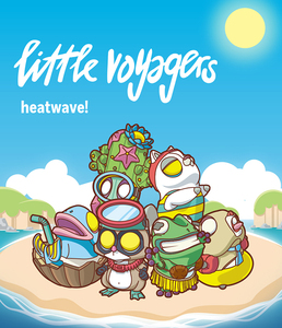POP MART X COARSE Little Voyagers -heatwave!- series - display case of 6pcs - 小小冒險家系列5 -熱浪- 盒玩系列 - 中盒內含6抽
