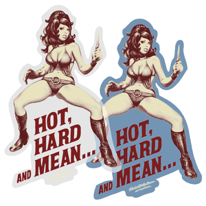 Rockin' Jelly Bean Sticker - Hot, Hard and Mean - Blue / Clear  - RJB 貼紙 - Hot, Hard and Mean 藍色 / 透明款