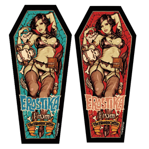 Rockin' Jelly Bean Sticker - Vampire of Erostika - Blue / Red  - RJB 貼紙 - Erostika的吸血鬼 藍色 / 紅色款