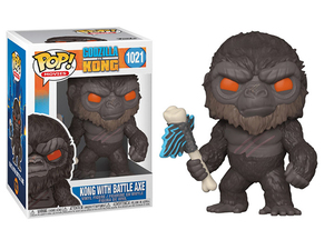Godzilla vs. Kong POP! vinyl figure - Kong with Battle Axe - 哥吉拉大戰金剛 POP!人偶 - 金剛拿戰斧