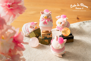 TOYZEROPLUS X Cici's Story - LuLu in Bloom Sakura 2 - Blind Box series - display case of 6pcs - TOY0+ 罐頭豬 LuLu 花見花開系列 盒玩版 - 中盒內含6抽